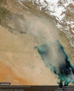Aqua MODIS image of Shamal Wind Dust Storm over the Persian Gulf