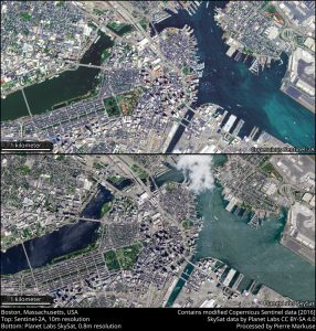 Comparison Boston Sentinel-2A and SkySat
