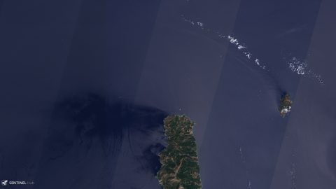 Example of Sentinel-2 detector striping