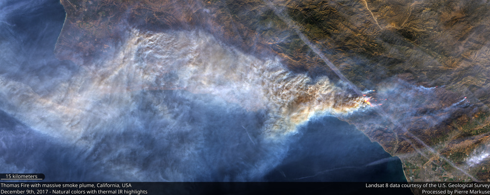 Thomas Fire smoke plume