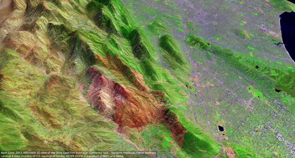 2016 Sand Fire burn scar, California, USA