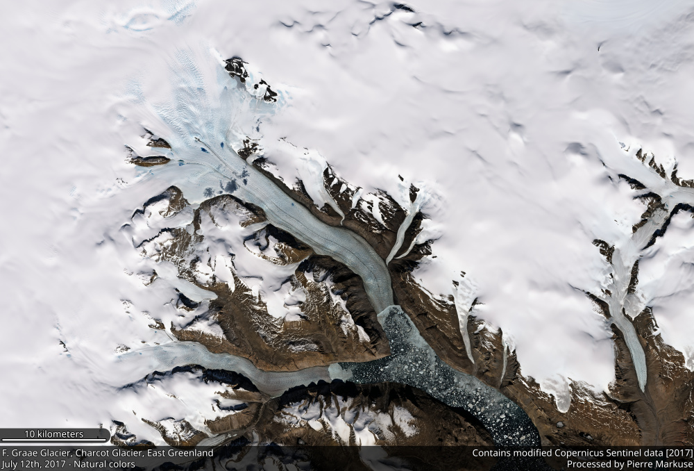 F. Graae Glacier and Charcot Glacier