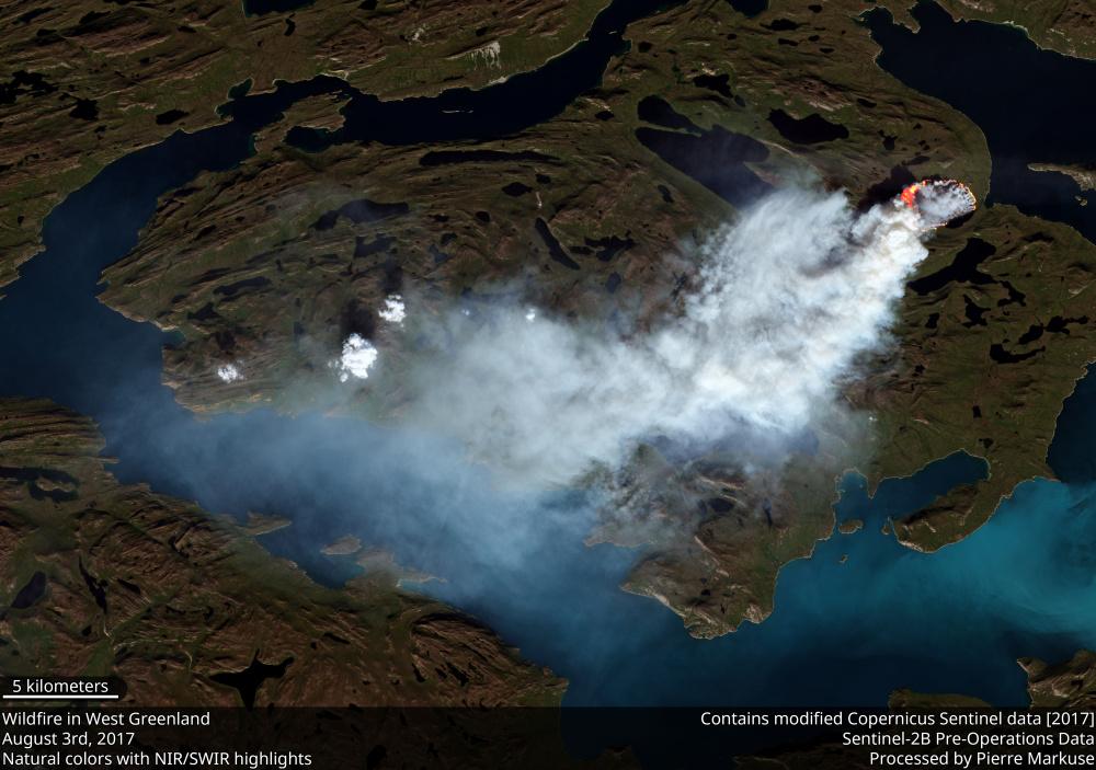 Greenland wildfire