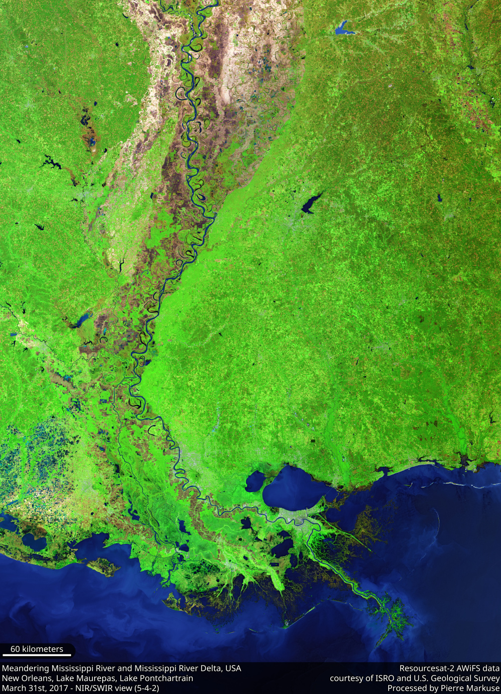 Mississippi River and its delta