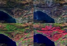 Comparison of the Thomas Fire in California on Nov 28 and Dec 18