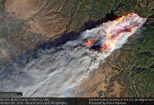 Landsat 8 image of the Camp Fire