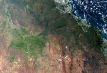 Sentinel-3 image of Queensland, Australia