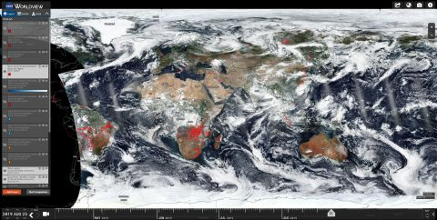Using NASA Worldview to look for fires - super easy