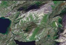 Area of the July/August 2019 Greenland wildfire before - August 10th, 2018