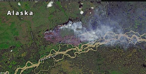 Yukon wildfire with annotations