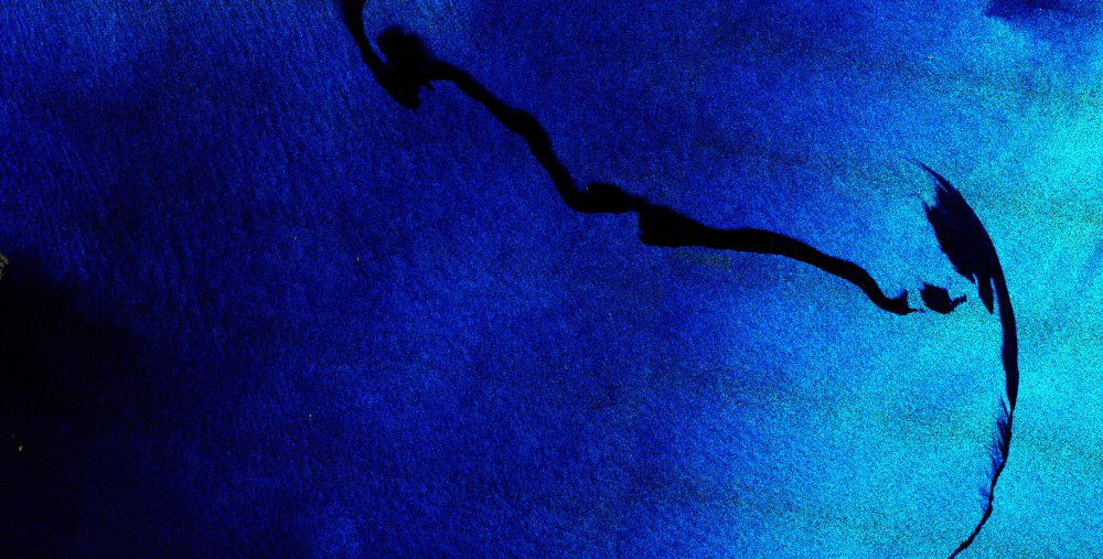 Oil spill Sentinel-1 satellite image