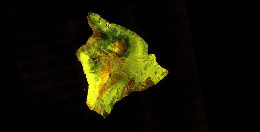 Hawaiʻi Sentinel-1 satellite image