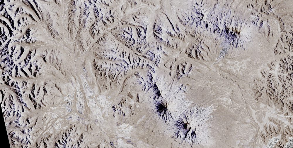 Kamchatka, Russia, Sentinel-1 satellite image