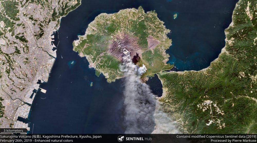 Sakurajima Volcano (桜島), Kagoshima Prefecture, Kyushu, Japan Copernicus/Pierre Markuse