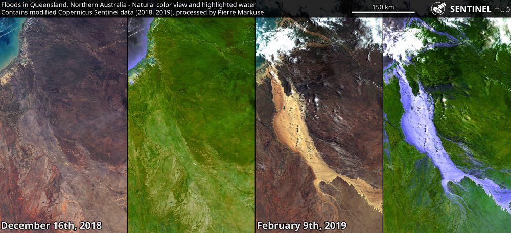 Floods in Queensland, Northern Australia - Copernicus/Pierre Markuse