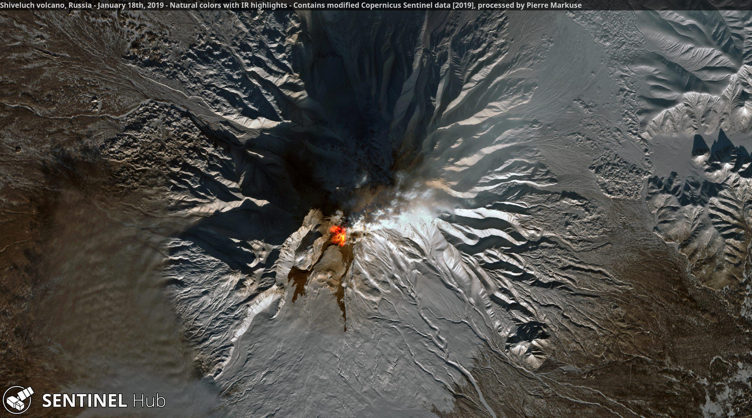 Shiveluch Volcano, Copernicus/Pierre Markuse