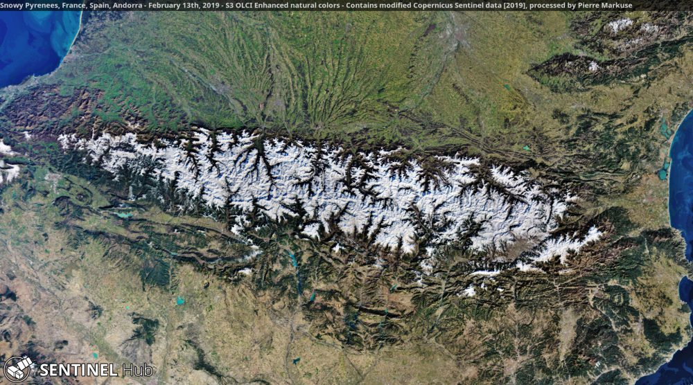 Snowy Pyrenees, France, Spain, Andorra - Copernicus/Pierre Markuse