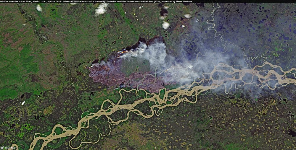 Wildfire near the Yukon River, Alaska, USA Copernicus/Pierre Markuse
