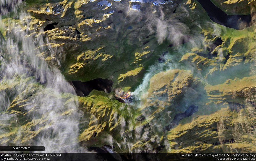 Wildfire in the Qeqqata Kommunia, Greenland Copernicus/Pierre Markuse