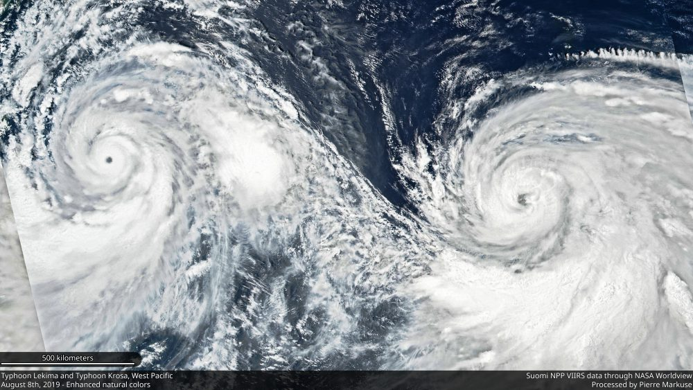 Typhoon Lekima and Typhoon Krosa, West Pacific - August 8th, 2019