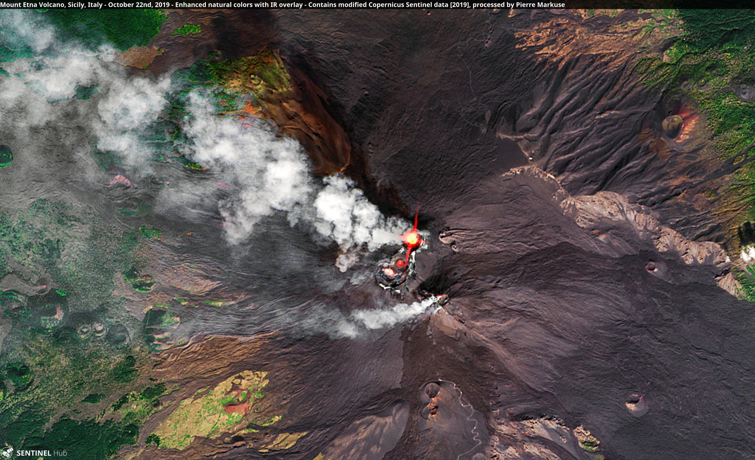 Mount Etna Volcano, Sicily, Italy - October 22nd, 2019 Copernicus/Pierre Markuse