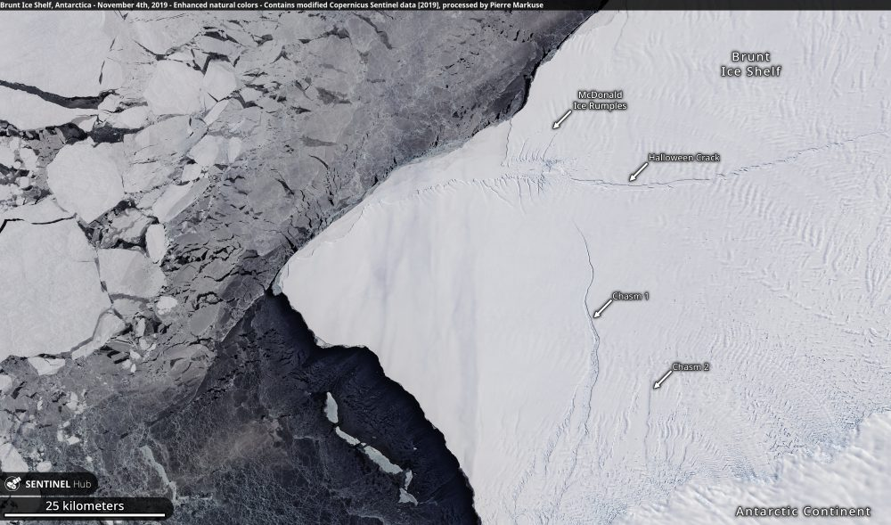 Brunt Ice Shelf, Antarctica - November 4th, 2019 Copernicus/Pierre Markuse