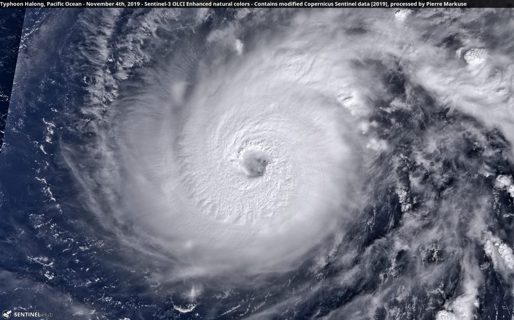 Typhoon Halong, Pacific Ocean - November 4th, 2019 Copernicus/Pierre Markuse