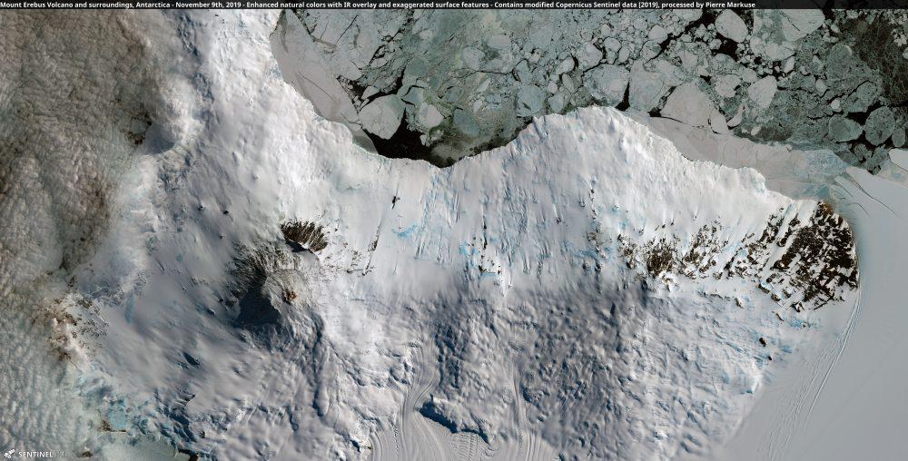Mount Erebus Volcano, Antarctica - November 9th, 2019 Copernicus/Pierre Markuse