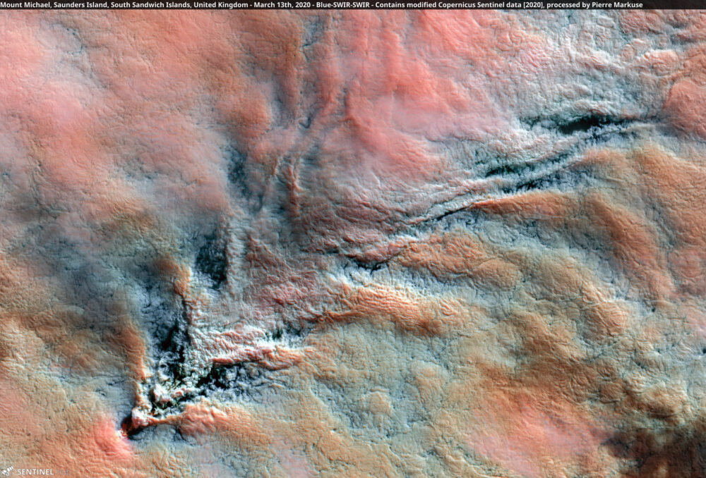 Mount Michael Volcano, Saunders Island, South Sandwich Islands, United Kingdom - March 13th, 2020 Copernicus/Pierre Markuse