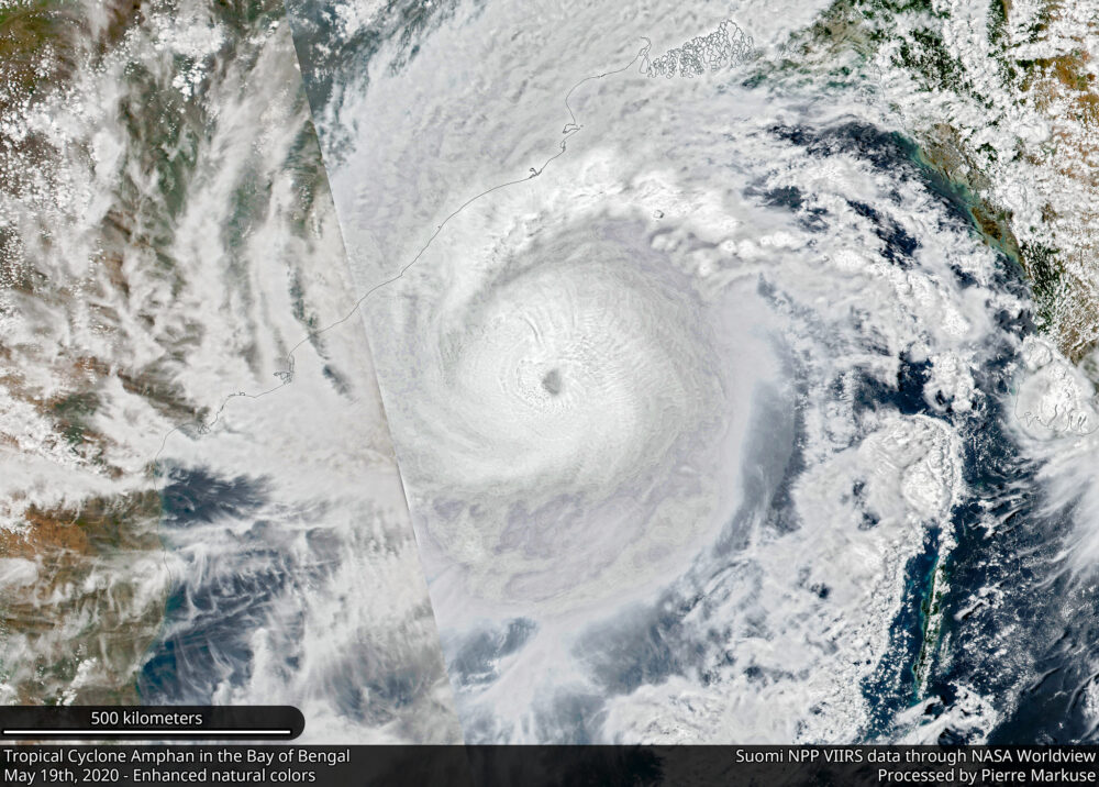 Tropical Cyclone Amphan in the Bay of Bengal - May 19th, 2020 NOAA/Pierre Markuse