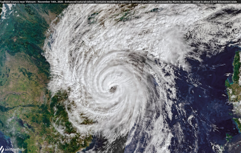 Typhoon Vamco near Vietnam - November 14th, 2020 Copernicus/Pierre Markuse